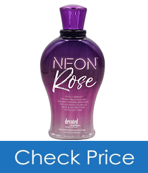 Devoted Creations Neon Rose Tanning Lotion with Natural Bronzers